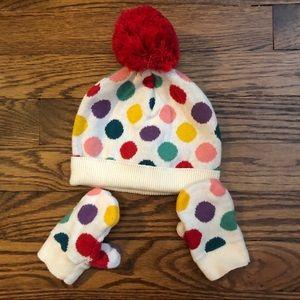 BABY GAP hat & mittens set